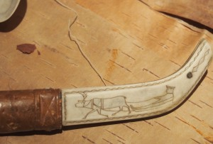 Carved Sami knife