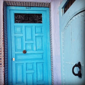 Colourful blue doors....