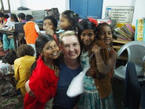 Volunteering in India.
